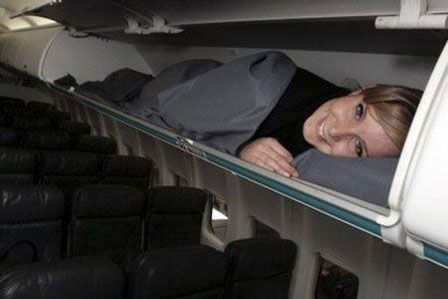 Como dormir melhor num vôo de largadistância.